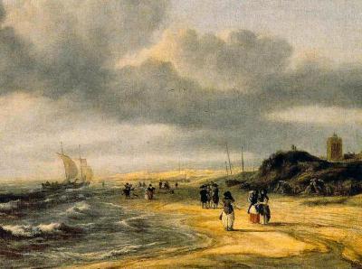 Jacob van Ruisdael - Het strand bij Egmond aan Zee